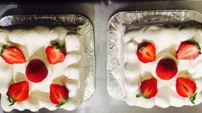 Organic strawberry short cake
