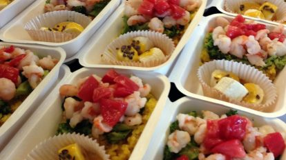 Spring time, Colorful Ebi dry curry.