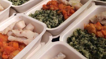 Fish, rice and veggies