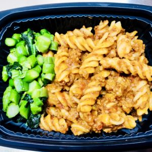 Bolognese Pasta With green veggies