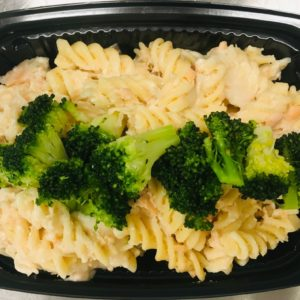 Smoked salmon cream Pasta with broccoli