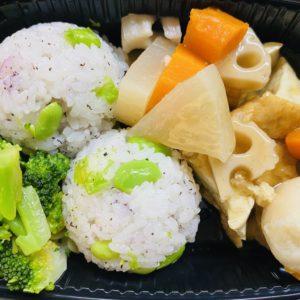 Tofu steak with Yukari and Edamame rice